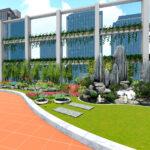 Tư vấn thiết kế vườn trên mái tòa nhà HUD