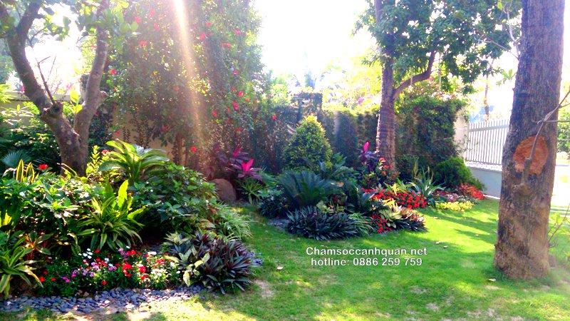 Sân vườn biệt thự Vinhomes