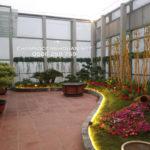 Thi công sân vườn trên mái tòa nhà HUD