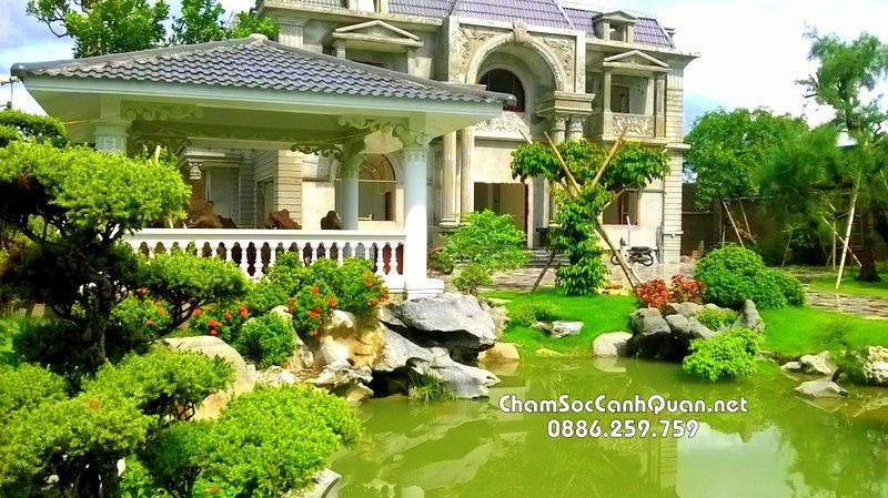 Sân vườn biệt thự đẹp tại Hoài Đức Hà Nội