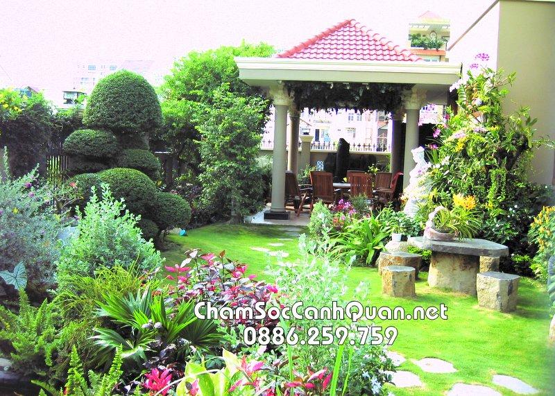 Sân vườn đẹp Hoài Đức