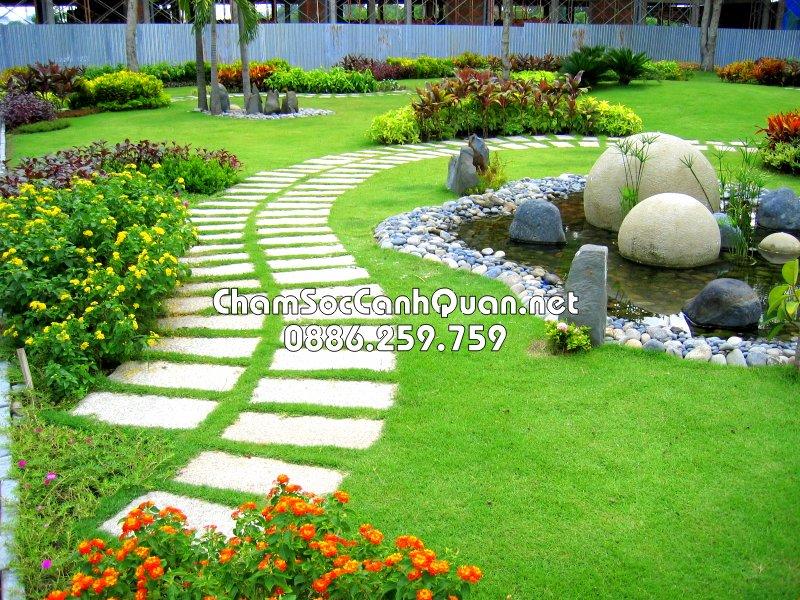 Sân vườn đẹp Vinhomes