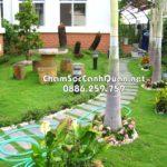 Sân vườn đẹp Vĩnh phúc- Thiết kế thi công SalalaGreen