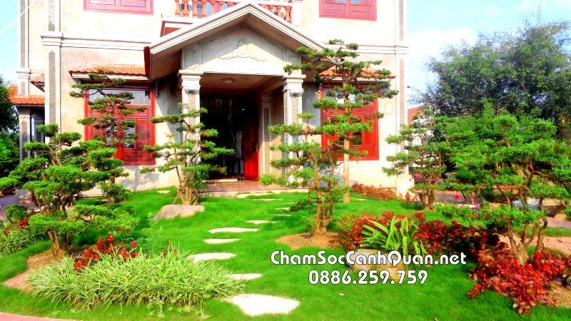 Thi công sân vườn đẹp tại Nam Định