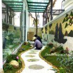 Thi công sân vườn biệt thự Vinhomes Ocean Park