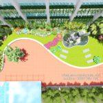 Thiết kế sân vườn trên mái tòa nhà HUD