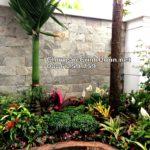 Sân vườn biệt thự Vinhomes Riverside Hướng Dương