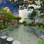 Thiết kế sân vườn đẹp tại Vinhomes Riverside