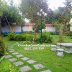 Thi công sân vườn Đan Phượng – Hà Nội – SalalaGreen