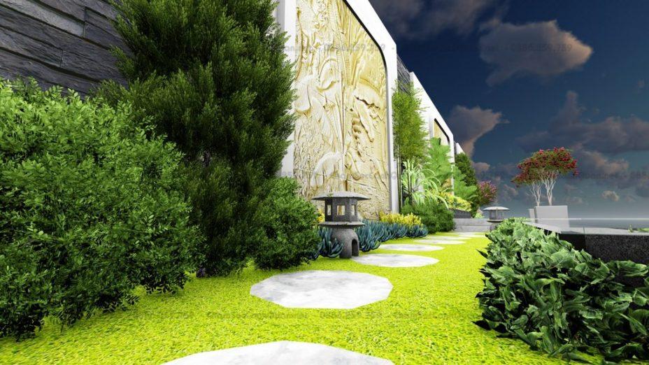 Sân vườn Vinhomes Green Bay