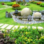 Sân vườn đẹp Vinhomes Riveside – Thi công SalalaGreen